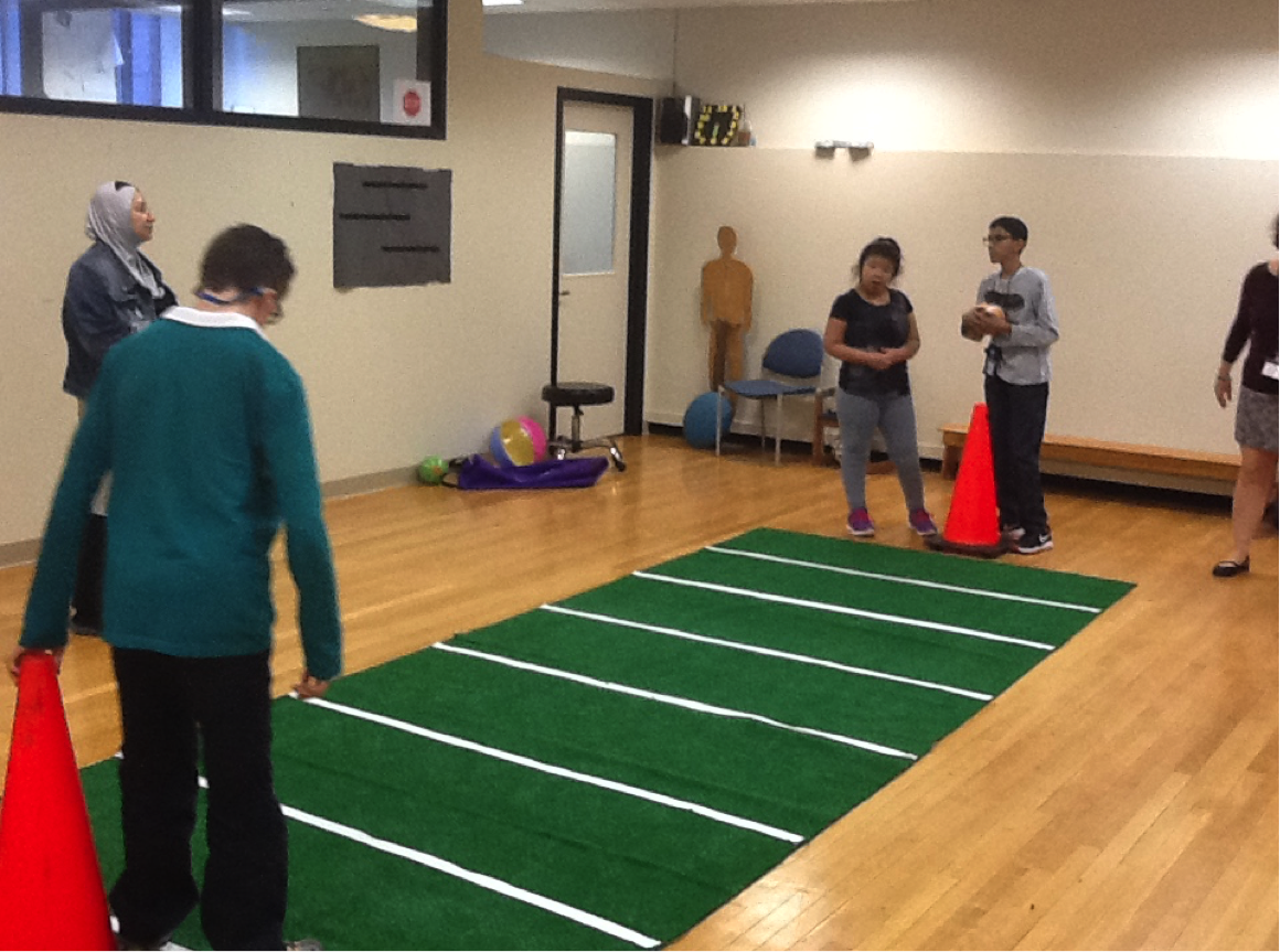 Indoor Modified Football Activity 5 Passing Play