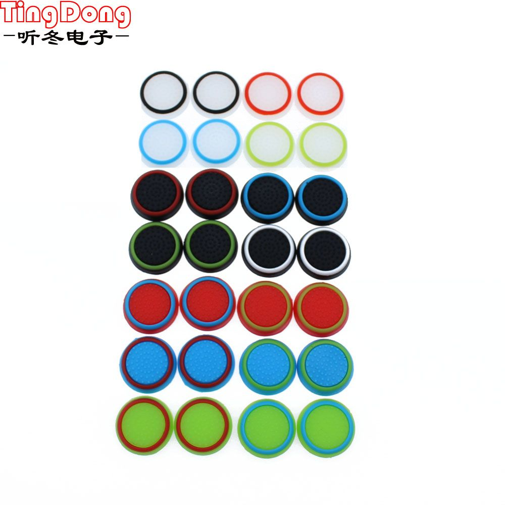 Tingdong 12 Pcs Silicone Analog Thumb Stick Grips Caps Instances For Ps3 Ps4 Xbox 360 Xbox One Wi Fi Controller
