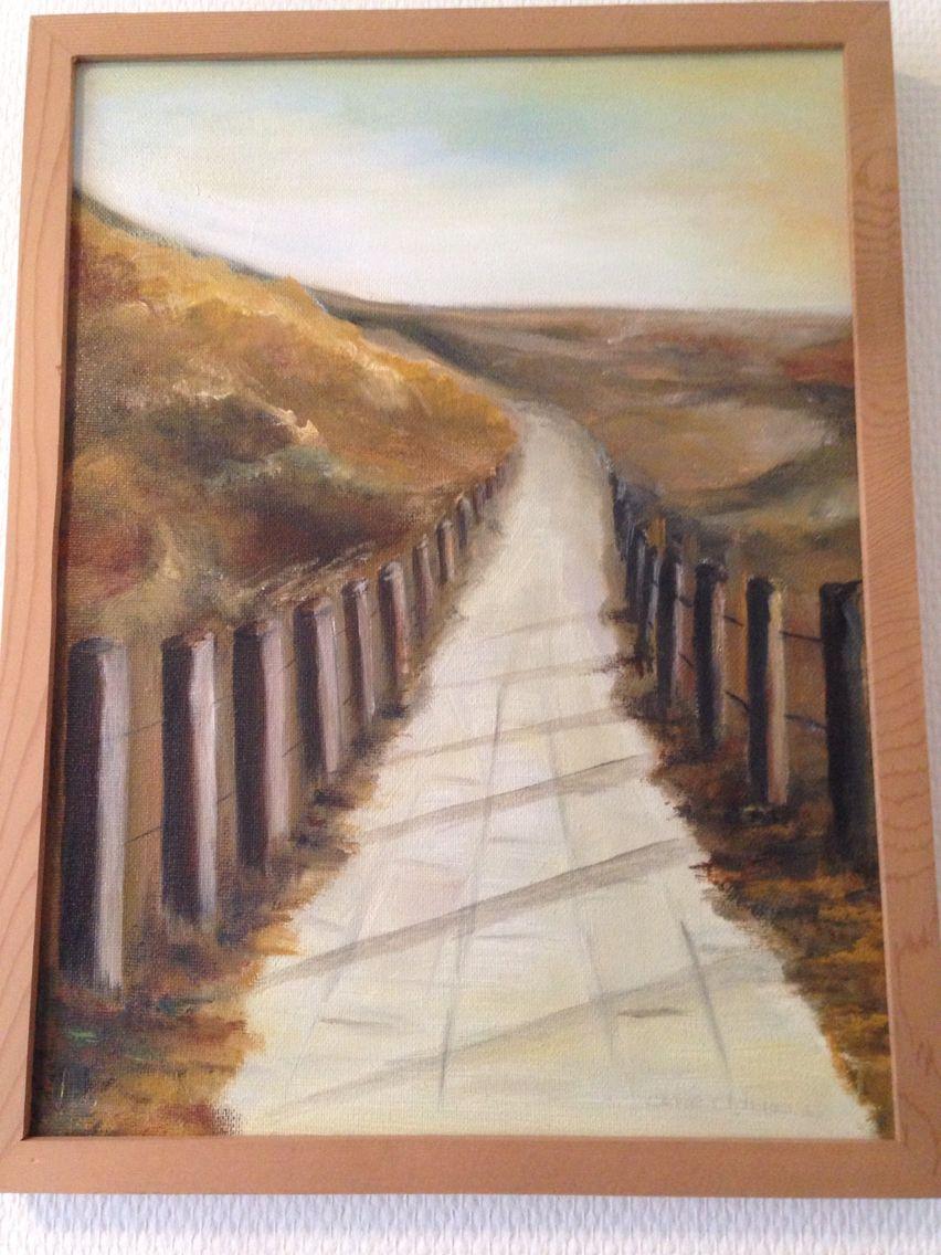 Duinpad oil painting.