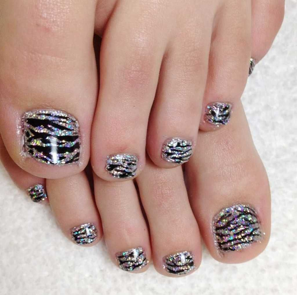 Pedicure zebra print nail design :: one1lady.com :: #nail #nails ...