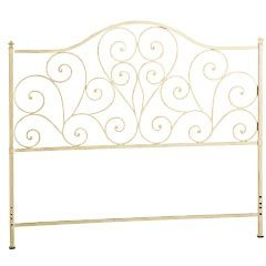 For those who heart vintage style headboards Our wrought iron design is accented with heart shaped scrolls graceful curves and traditional finials then