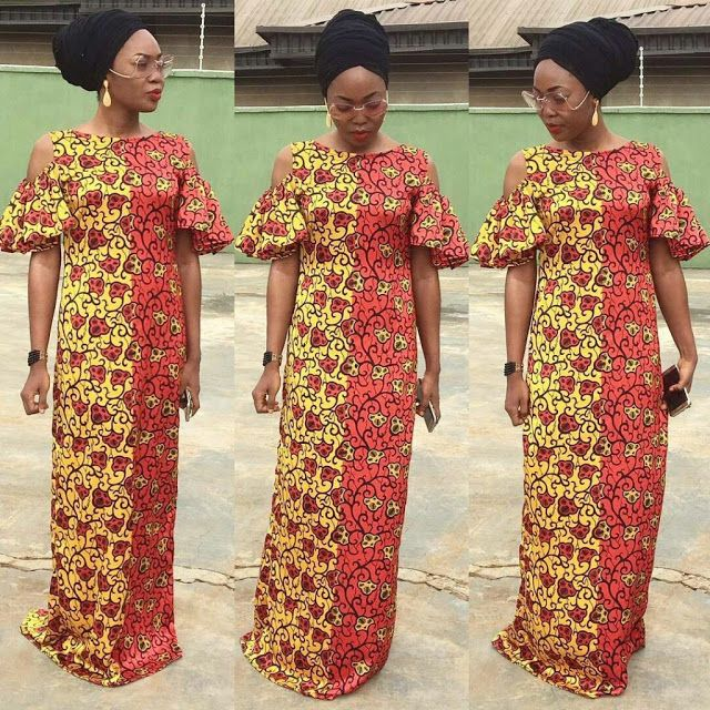 Beautiful Ankara Long Gown Style Ankara Styles Pinterest