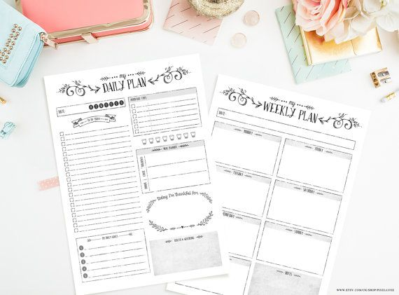 Make your day, and your week a little bit easier with our gorgeous Planner Bundle - including our popular Daily Planner and Weekly Planner in one handy