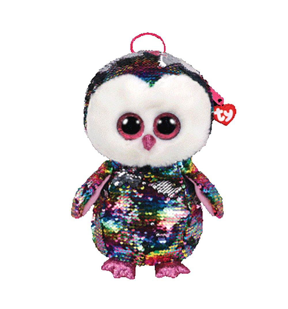 d0aa0c8e307 Current 165959  2018 Ty Fashion Flippy Color Changing Sequin Backpack - Owen  The Owl (13 Inch) -  BUY IT NOW ONLY   21.95 on eBay!