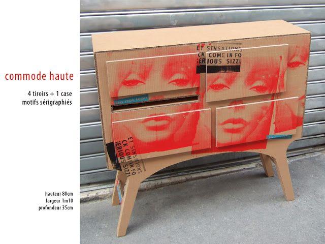 Missjulia Commodes Et Buffets Meubles En Carton Design En Carton Renovation Meuble