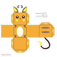 Raichu Papercraft By CharrChan Cute Easy Activity For The Kid