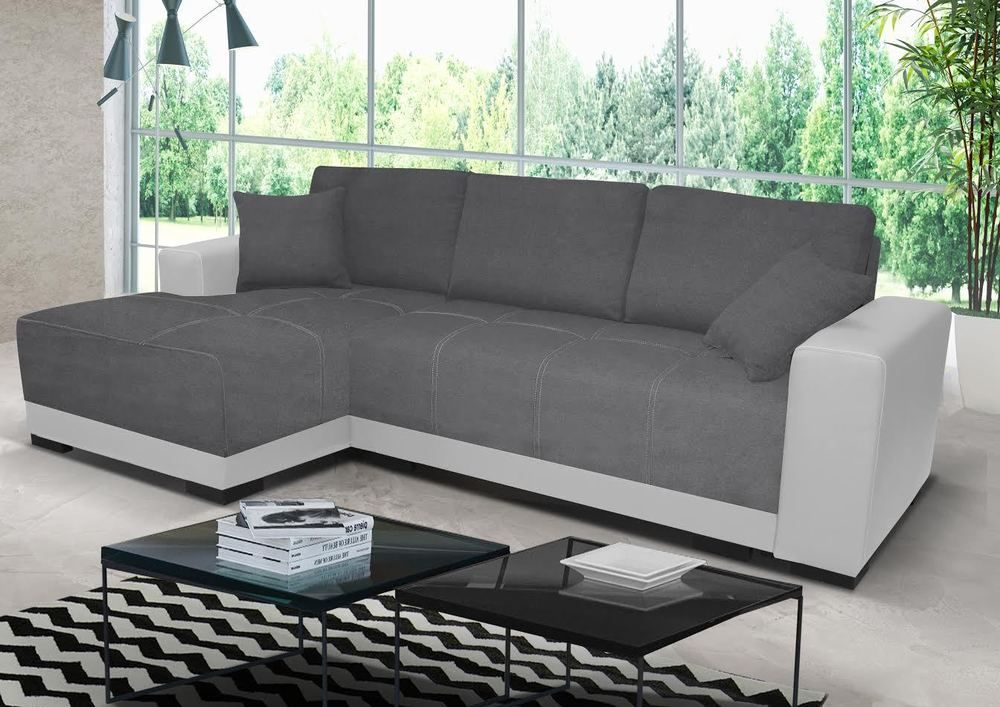 new cimiano leather fabric corner sofa z funkcja spania