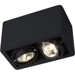 Photo of Trizo21 R52 Up Gu5.3 ceiling spot, black with chrome-plated ring Trizo21