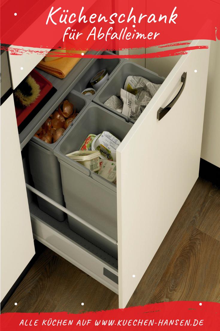 Unterschrank für Abfalleimer  Mülleimer küche, Abfalleimer