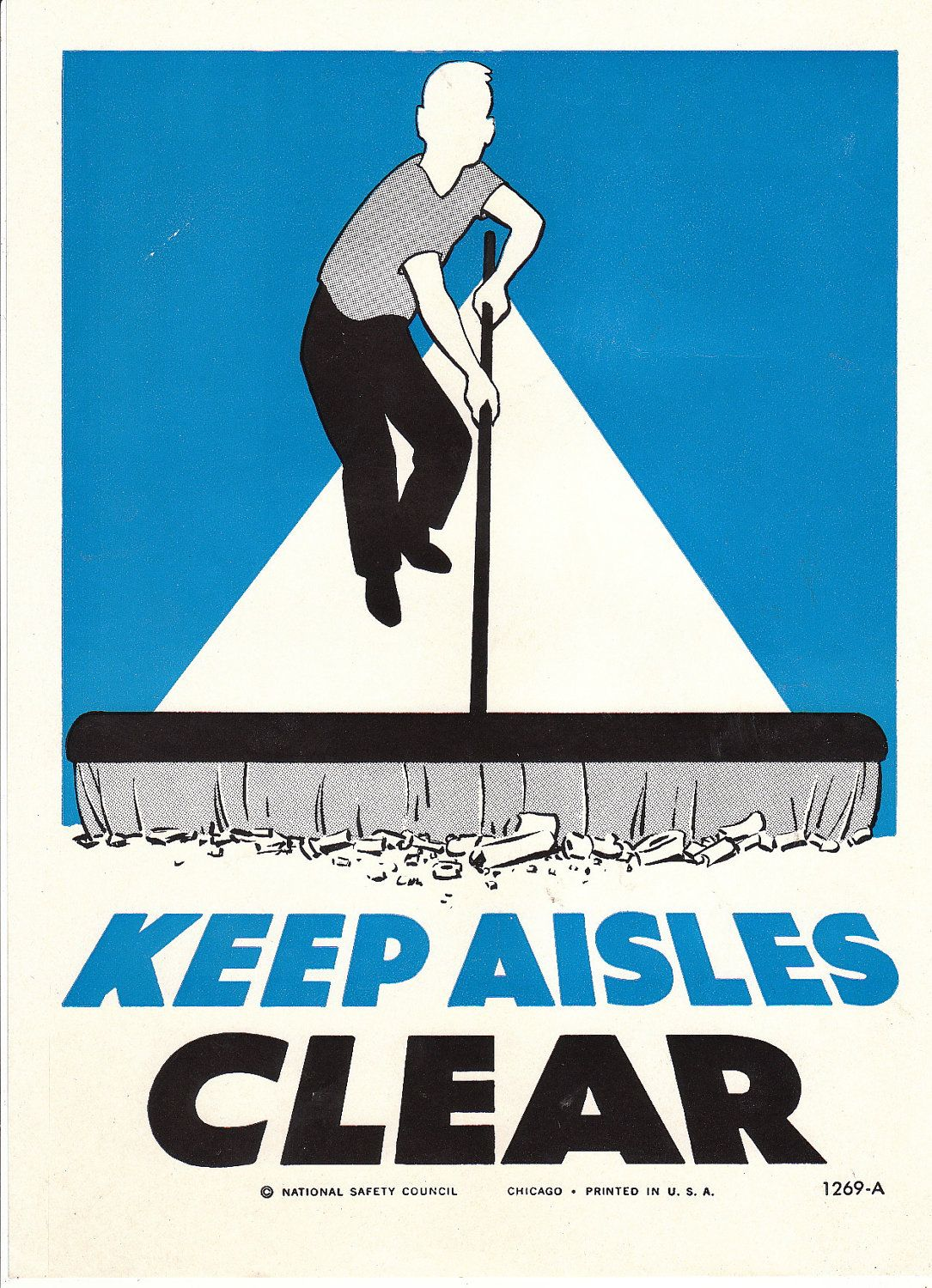 Collectable Vintage National Safety Poster - Keep Aisles Clear ...