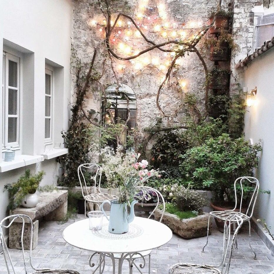 Small courtyard garden inspiration  areebahnaseer   Gardening   Pinterest  Garden Patio and