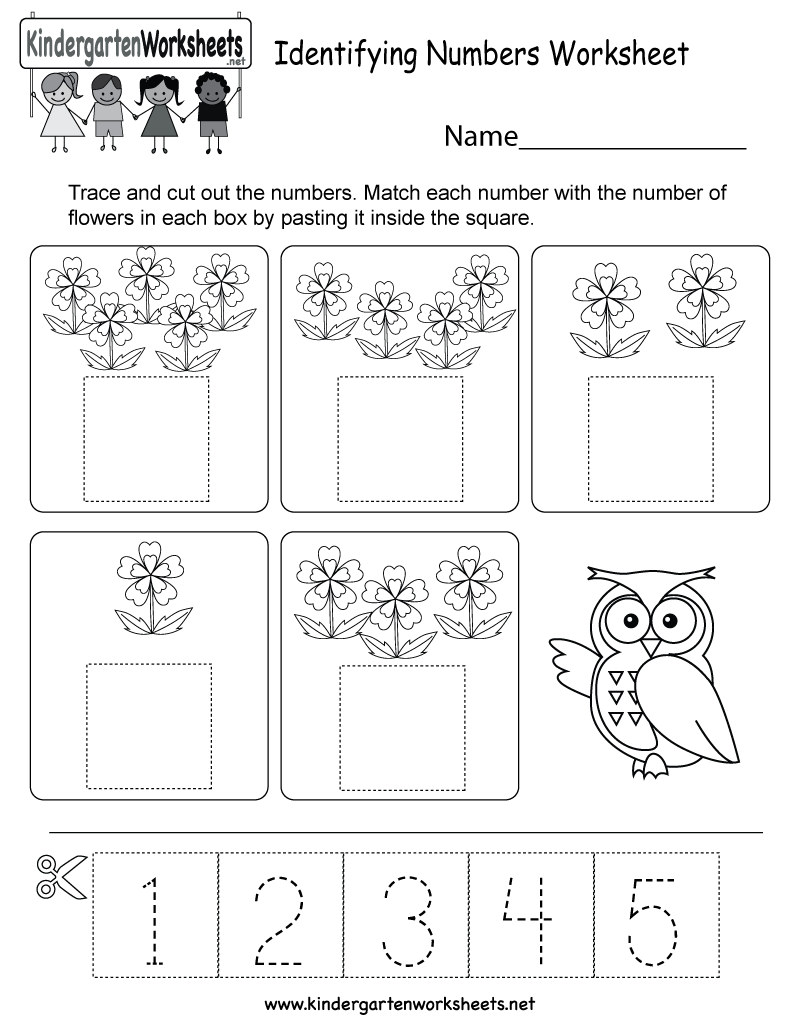 This is a cute numbers activity worksheet for kindergarten kids. It ...