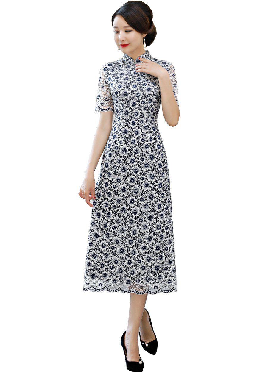 a7849d28c822 Shanghai Story 2018 Vietnamese ao dai traditional Clothing Qipao long Chinese  dress robe chinoise modern cheongsam 4 Color