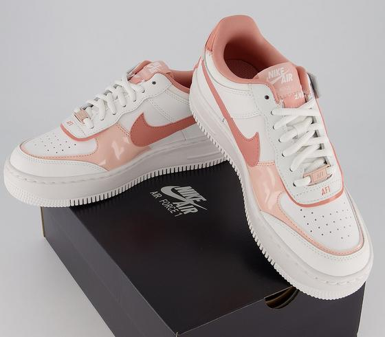 Nike Air Force 1 Shadow Trainers Summit White Pink Quartz