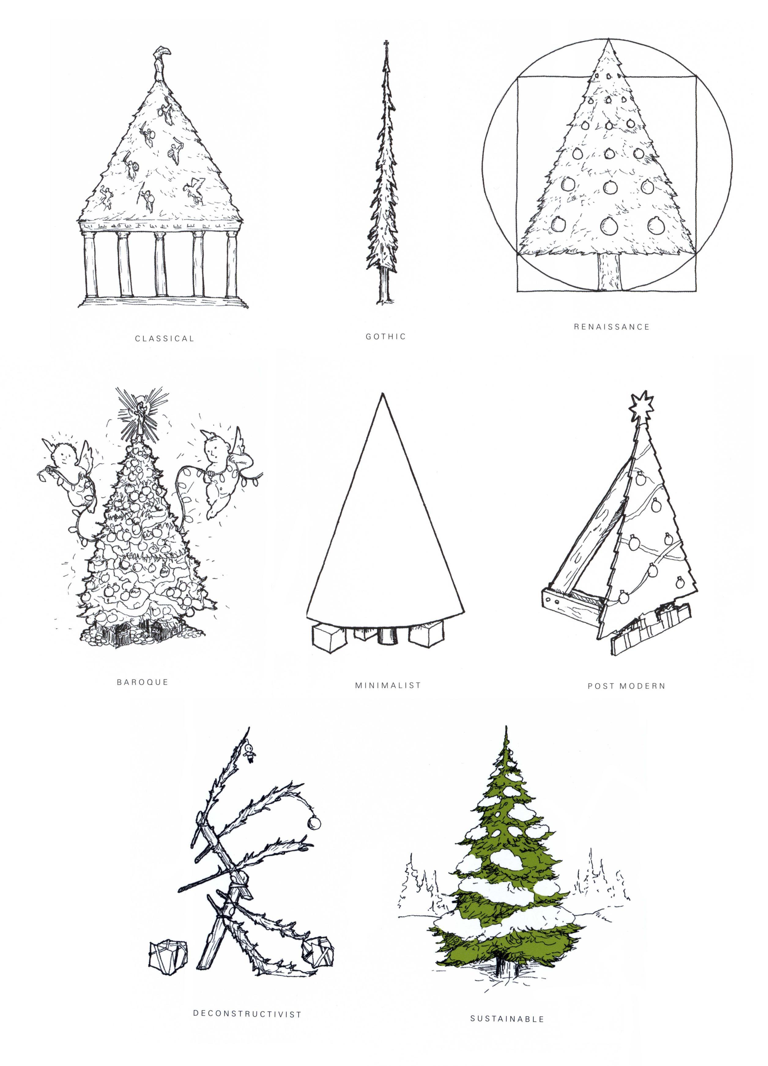 Joyeux Noel Histoire Des Arts.Architectural Christmas Trees Holidays Histoire De L Art