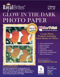 Royal Brites Glow In The Dark Photo Paper 85 X 11 3pack
