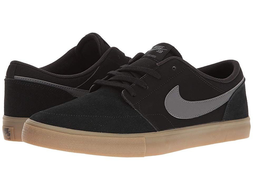 Jajaja dígito Lleno  Nike SB Portmore II Solar - Suede (Black/Dark Grey/Gum Light Brown) Men's  Skate Shoes. Nike SB keeps you clean with the Portmore II Solar… | Nike,  Portmore, Nike sb