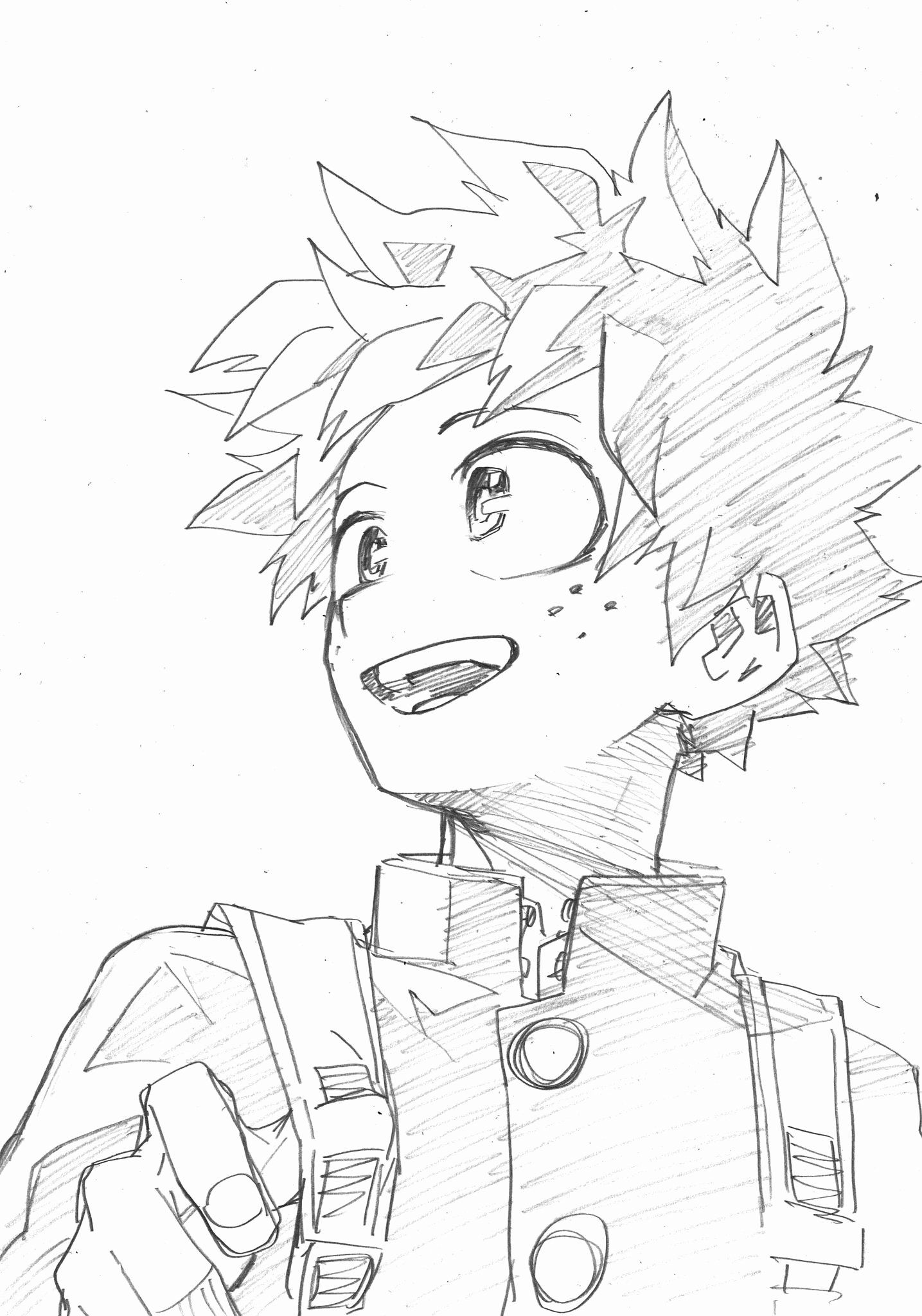 My Hero Academia Coloring Page Best Of Midoriya Coloring Pages In 2020 Anime Sketch Anime Drawings My Hero