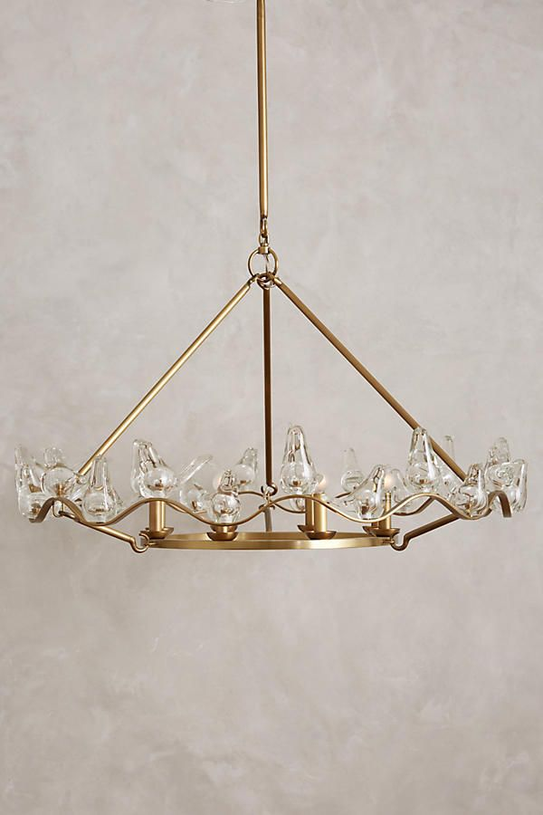 Winged glass chandelier chandeliers glass and interiors winged glass bird chandelier anthropologie aloadofball Gallery