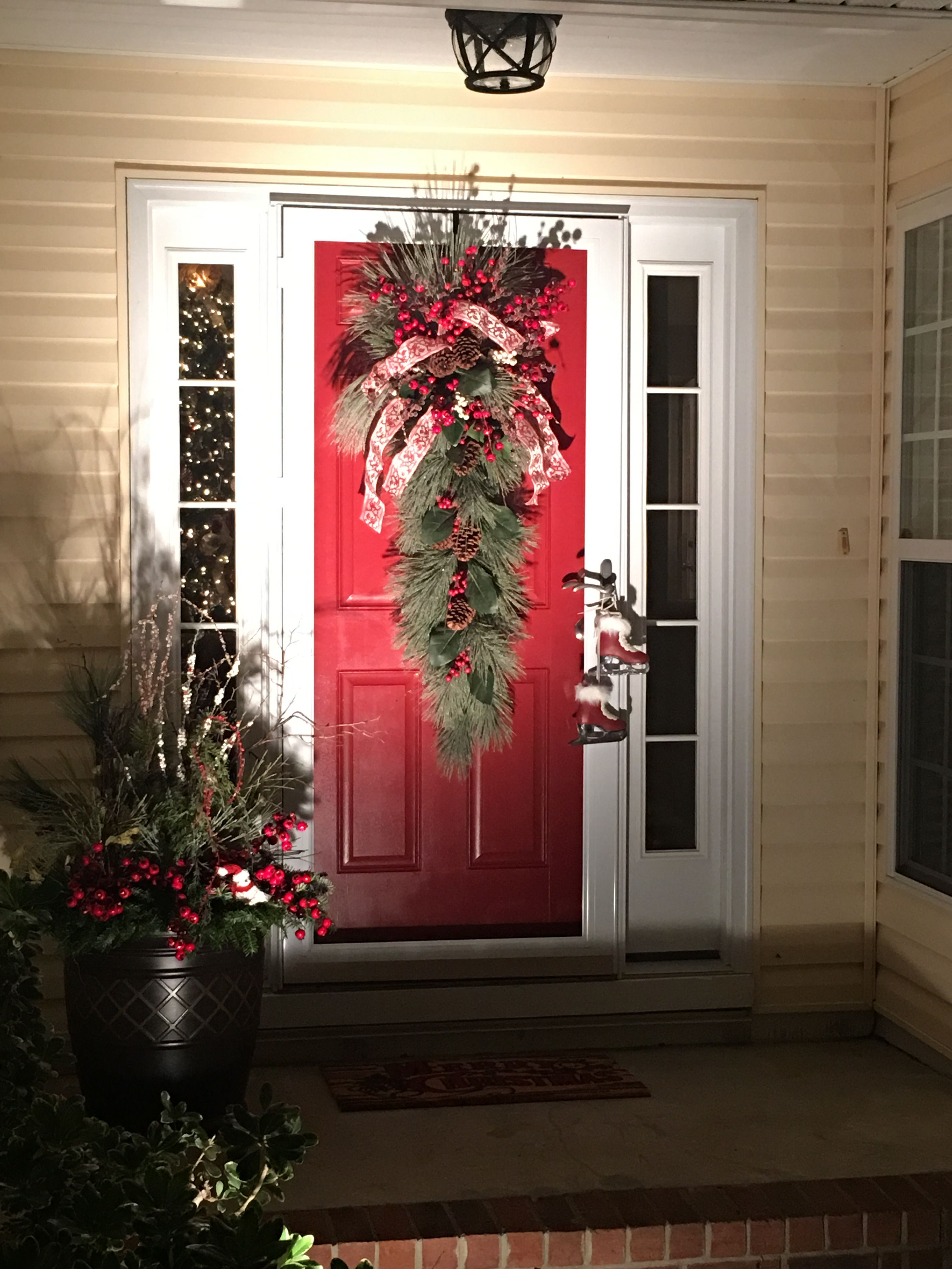 exquisite front porch designs for colonial homes. Explore these ideas and much more  Pin by Sheri Graves DeBord on A Touch Of Christmas Pinterest
