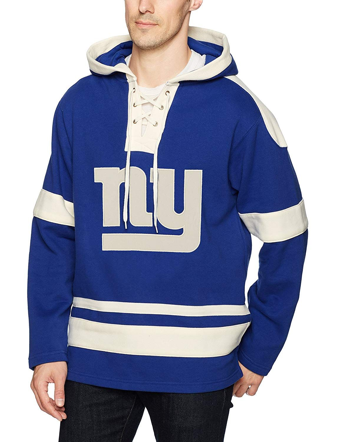 Amazon.com   OTS NFL Adult Men s Grant Lace Up Pullover Hoodie   Sports    Outdoors 58ae21bc7