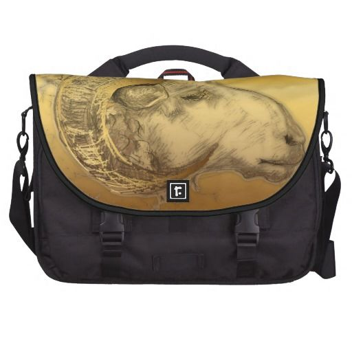 Gold Aries - Ram Sheep or Goat Year - Commuter bag