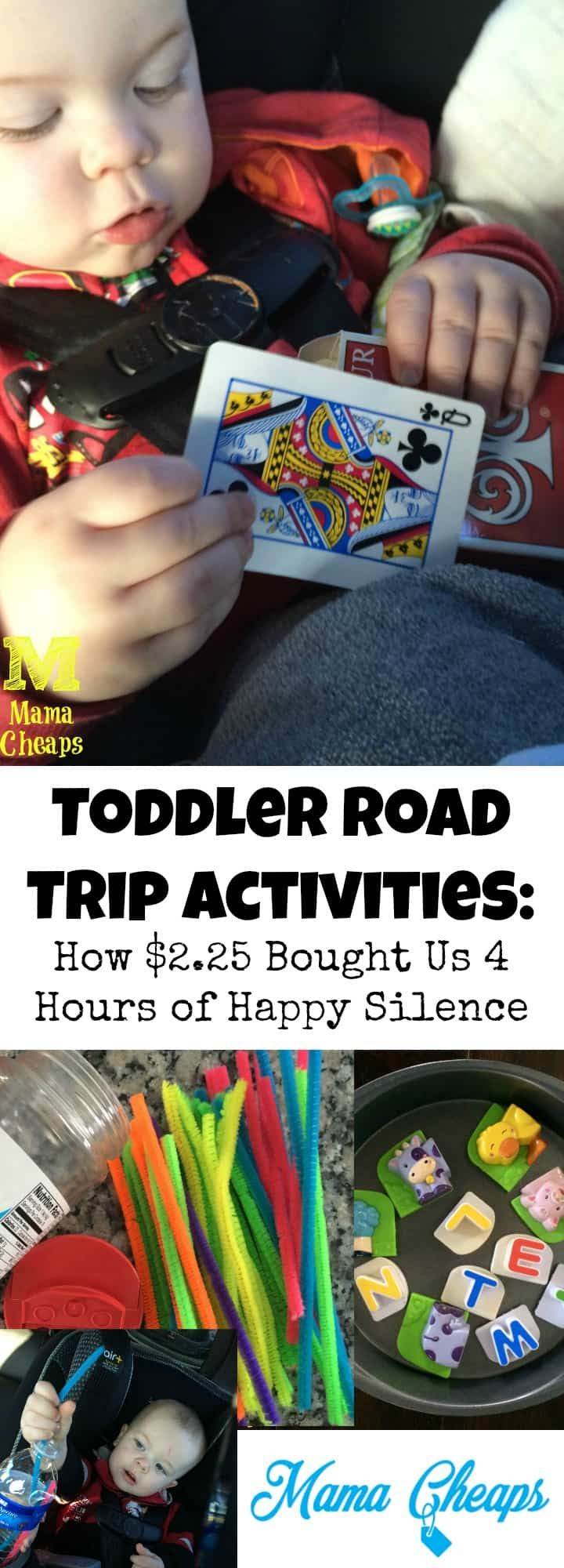 Toddler Road Trip Activities: How $2.25 Bought Us 4 Hours of Happy Silence | Mama Cheaps®