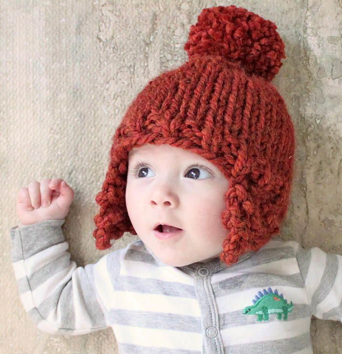 Ear Flap Baby Hat | Baby hats, Knitted hat patterns and Babies
