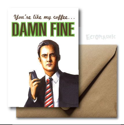 Greeting card twin peaks agent dale cooper card fan art damn fine greeting card twin peaks agent dale cooper card fan art damn fine hand drawn illustration m4hsunfo