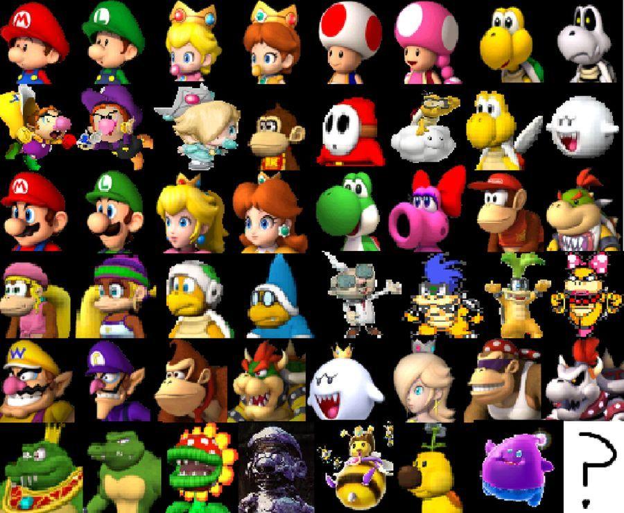 Mario Kart Wii U Roster Remake By Ohiostatebuckeyes On Deviantart