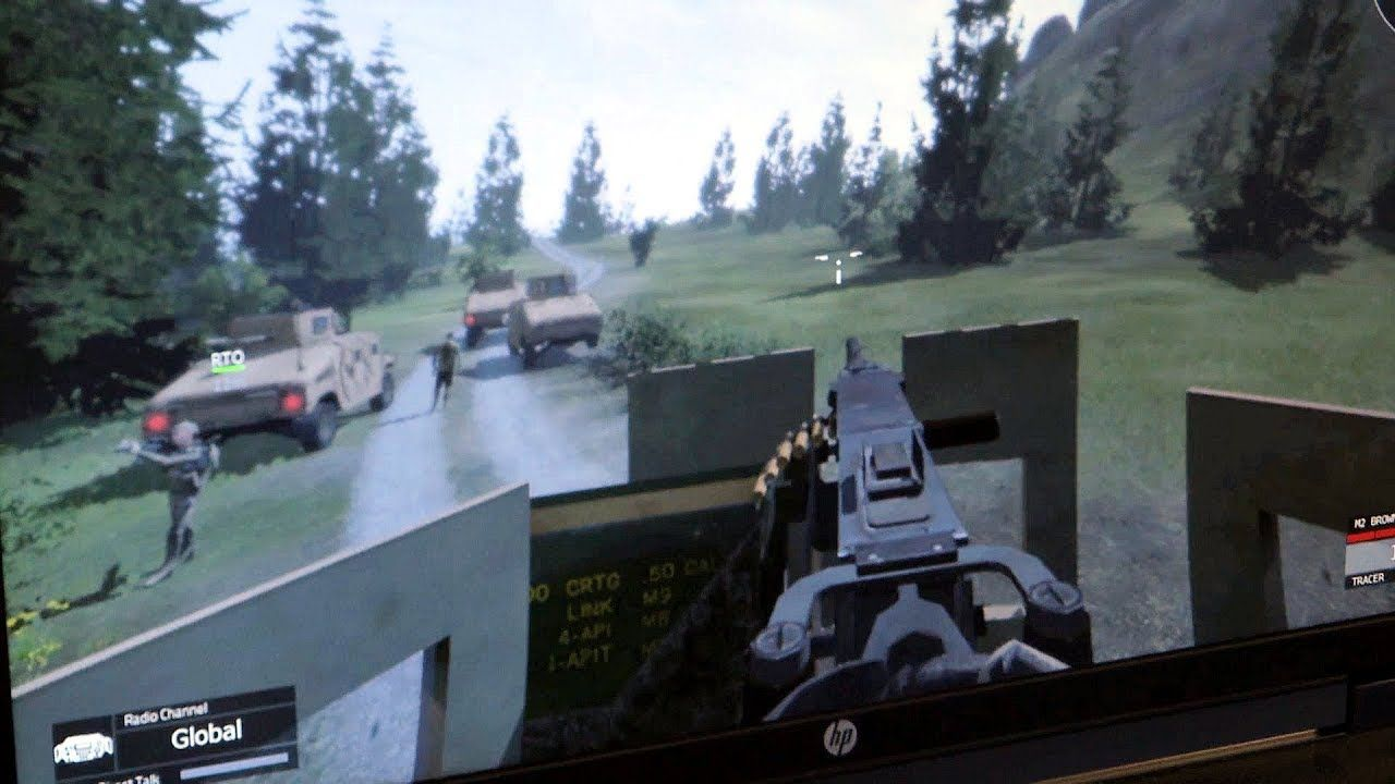 Soldiers Use Virtual Battle Space Trainer Army Reserve Army Soldier