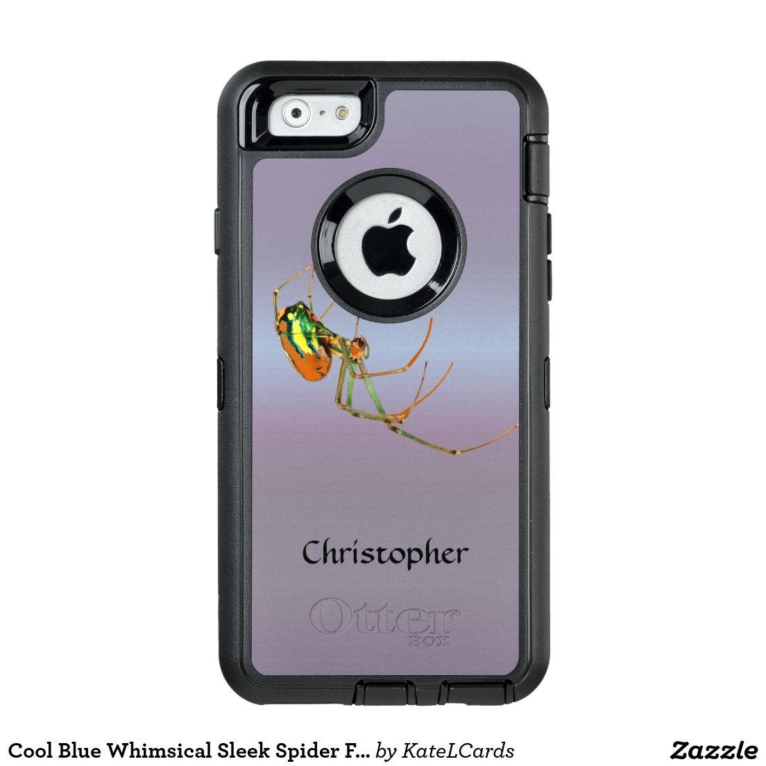 Cool Blue Whimsical Sleek Spider Fun Custom OtterBox iPhone 6 6s Case d88e37ed3