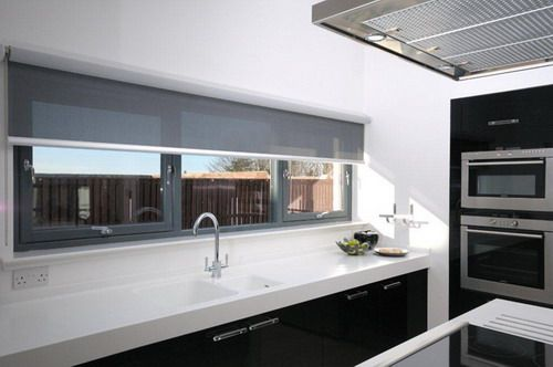 Styish Grey Kitchen Roller Blind Ideas