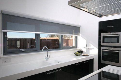 styish grey kitchen roller blind ideas | Blinds for windows ...