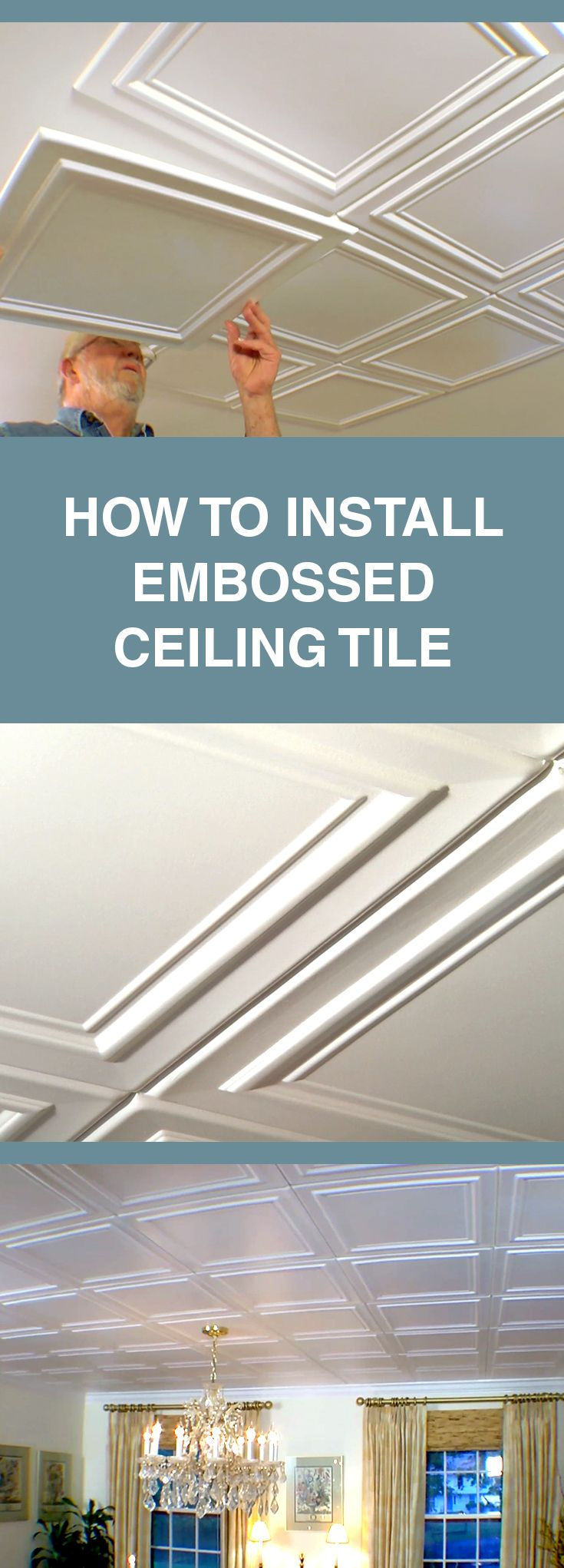 Image By Ron Hazelton On Ceilings Embossed Ceiling Tiles Ceiling Installation