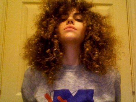 I Ll Try Anything Once Huge Like Really Huge Hair Really Curly Hair Huge Hair Curly Hair White Girl