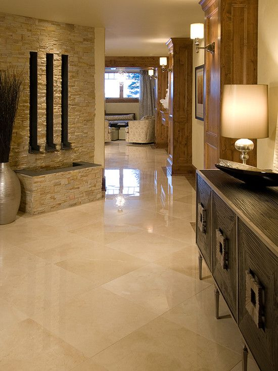 Stacked Stone W Travertine Floor Ryan 39 S Style For His New Home My Kitchen Favorites