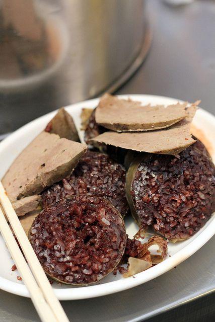 Soondae 순대 (also spelled Sundae) I wanna try these!