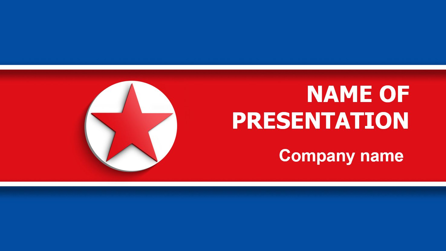 north korea flag powerpoint template and theme  this beautiful and creative powerpoint theme is