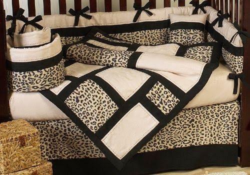 Cheetah Print Jungle Baby Nursery, Cheetah Print Baby Bedding Set