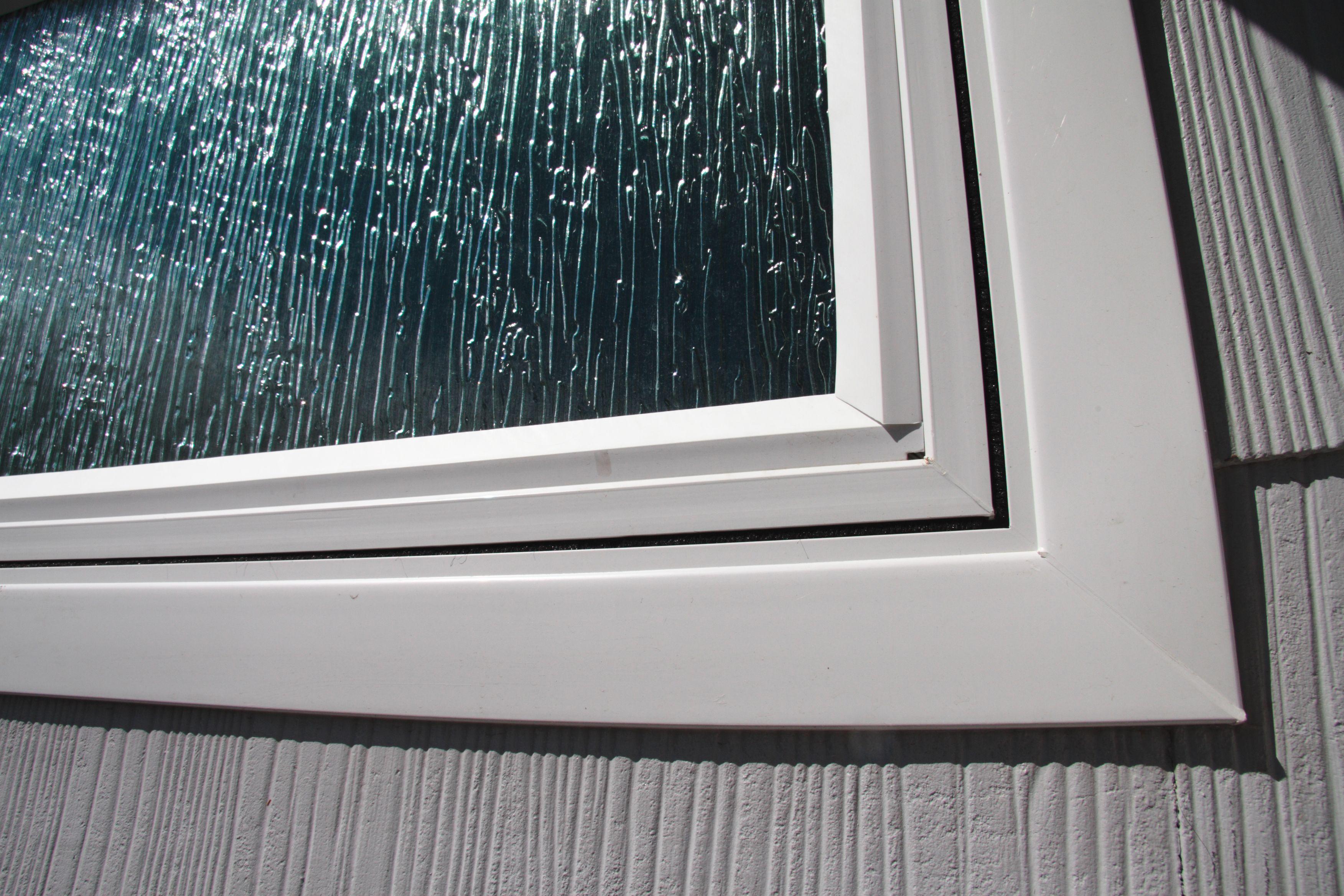 Rain Glass Was The Perfect Option For, Rain Glass Bathroom Window