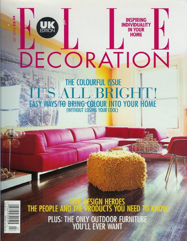Cover of Elle Decoration ELLE DECOR Pinterest Elle decor and