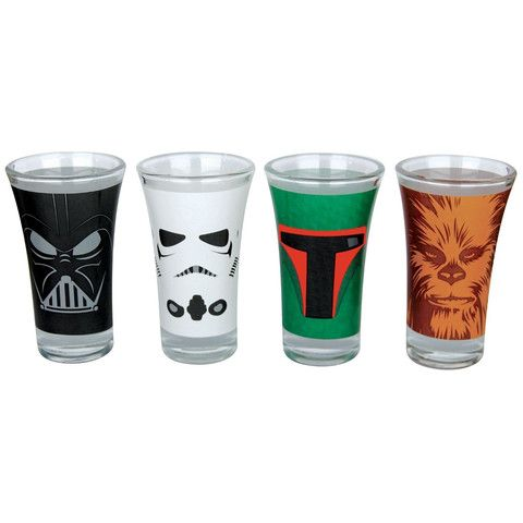 Star Wars Set Of 4 Shot Glasses Star Wars Set Star Wars Shot