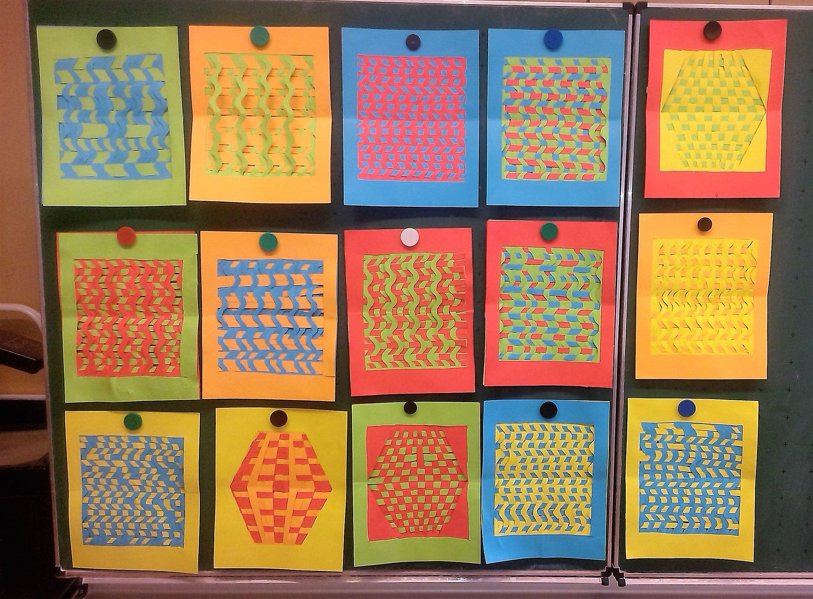 Mit diesen Flechtmatten vom Labbé Verlag haben die Kinder in der dritten Klasse viel Spaß!
