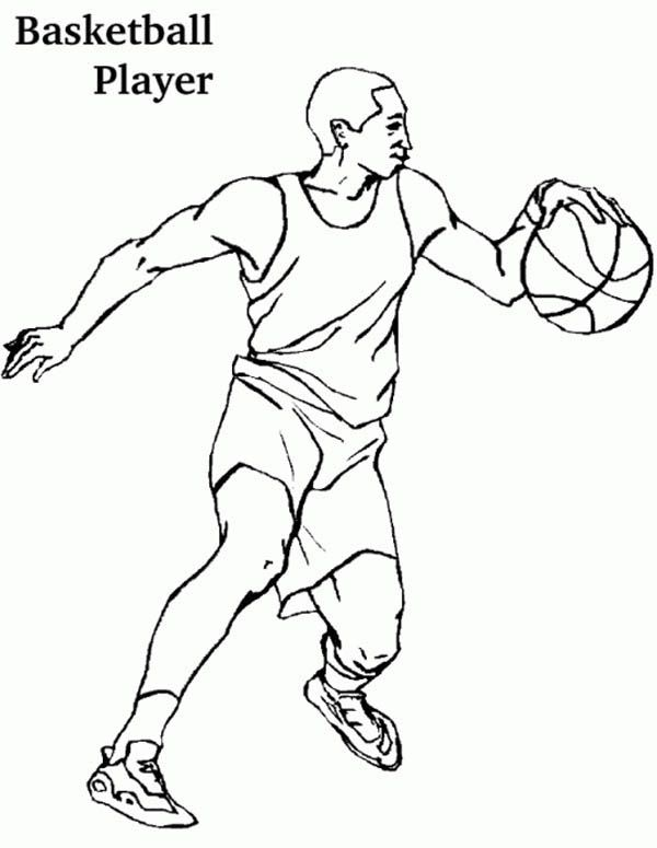 basketball player coloring pages coloring pages pinterest