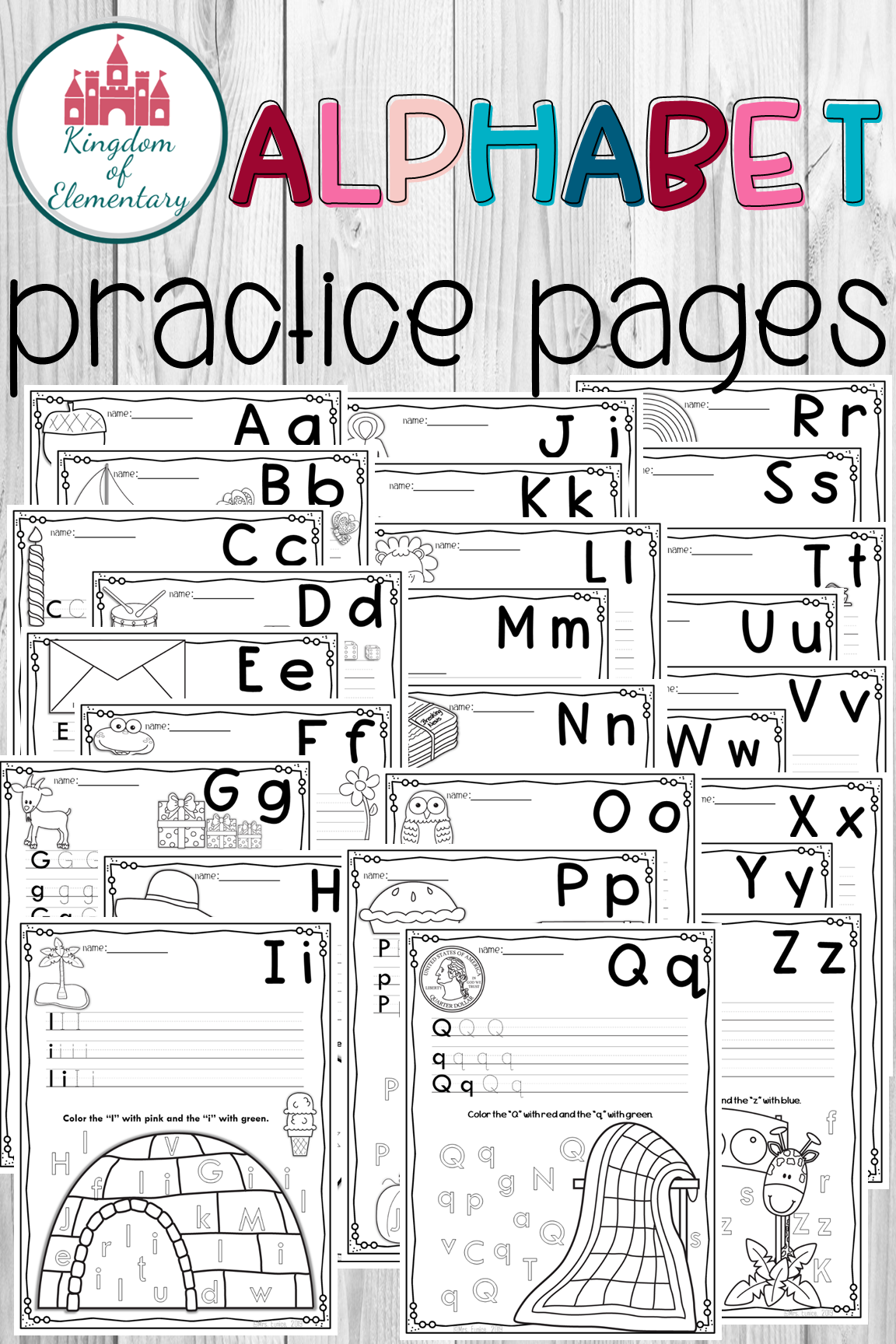 Alphabet Practice Pages Alphabet Worksheets Beginning