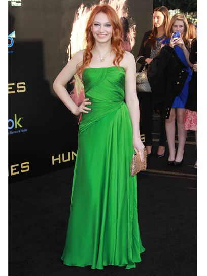 Jacqueline Emerson at the Los Angeles premiere of 'The Hunger Games'