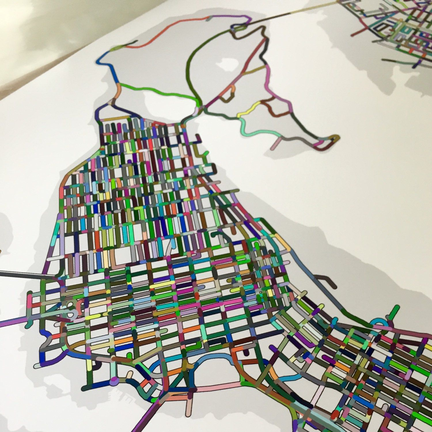 Color printing downtown vancouver - A Colourful Close Up View Of Downtown Vancouver Bc Canada Including Beautiful Stanley Park