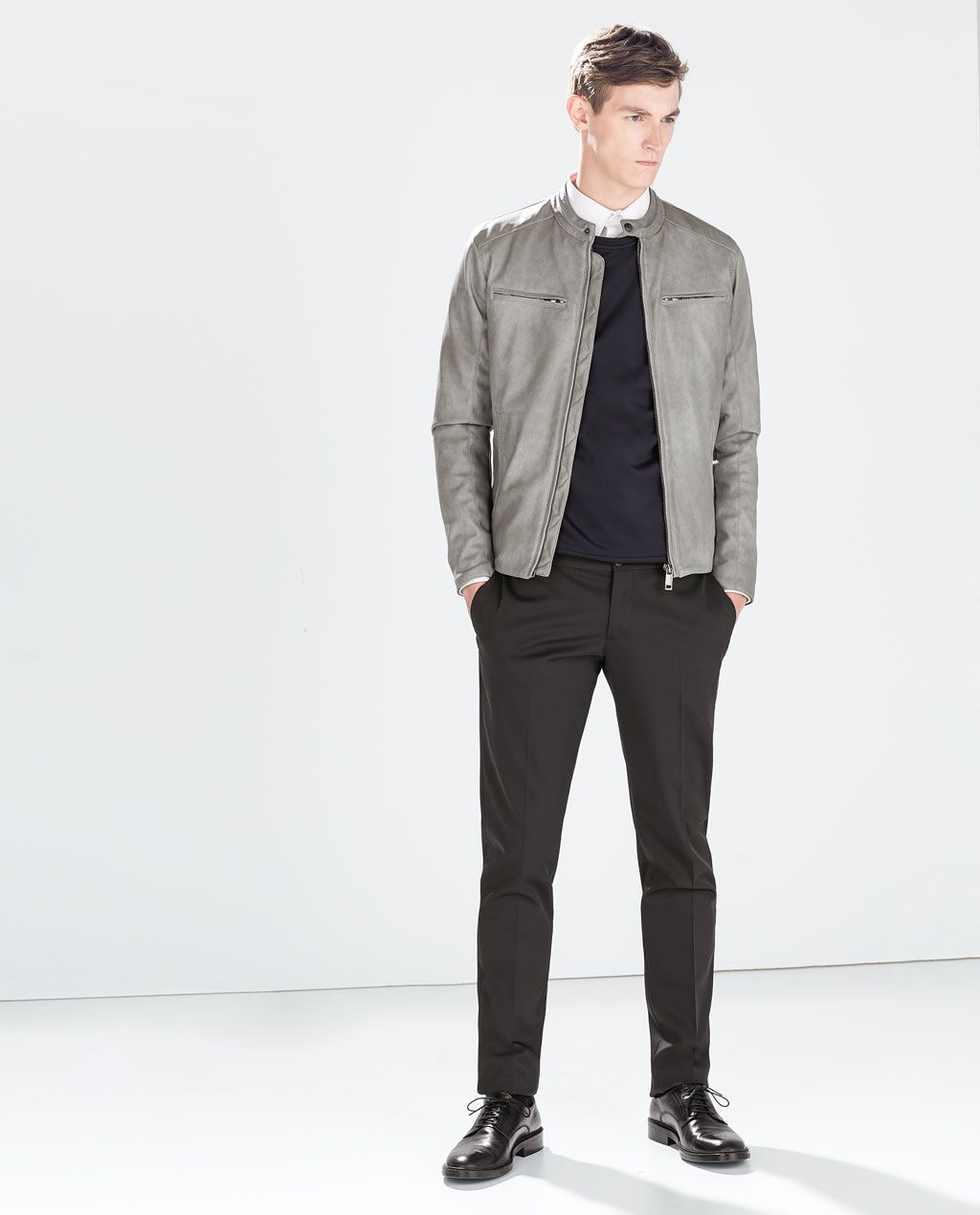 9ab24c58 Image 1 of PERFORATED FAUX LEATHER JACKET from Zara $119 | Gene ...