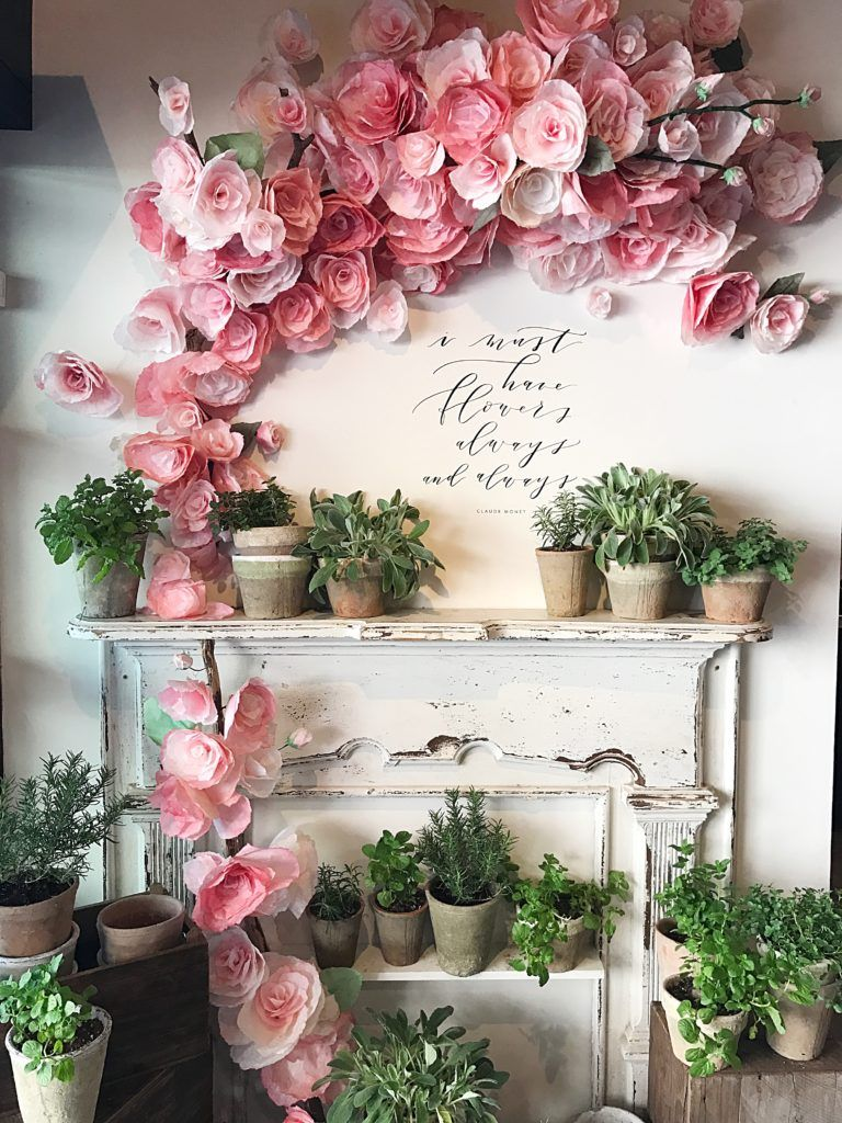 7 pretty diy paper flowers and tutorials pinterest crepe paper tissue paper flowers at magnolia market waco tx mightylinksfo
